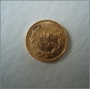 2 Pesos 1945 Mexico ,en oro  Image