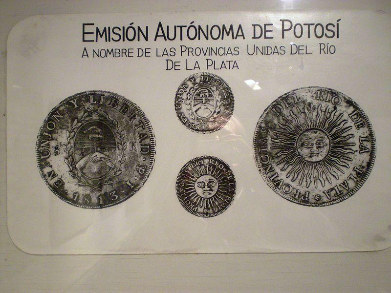 PRIMER MONEDA ARGENTINA ACUÑADA EN POTOSI (1813/1815) POTOSI