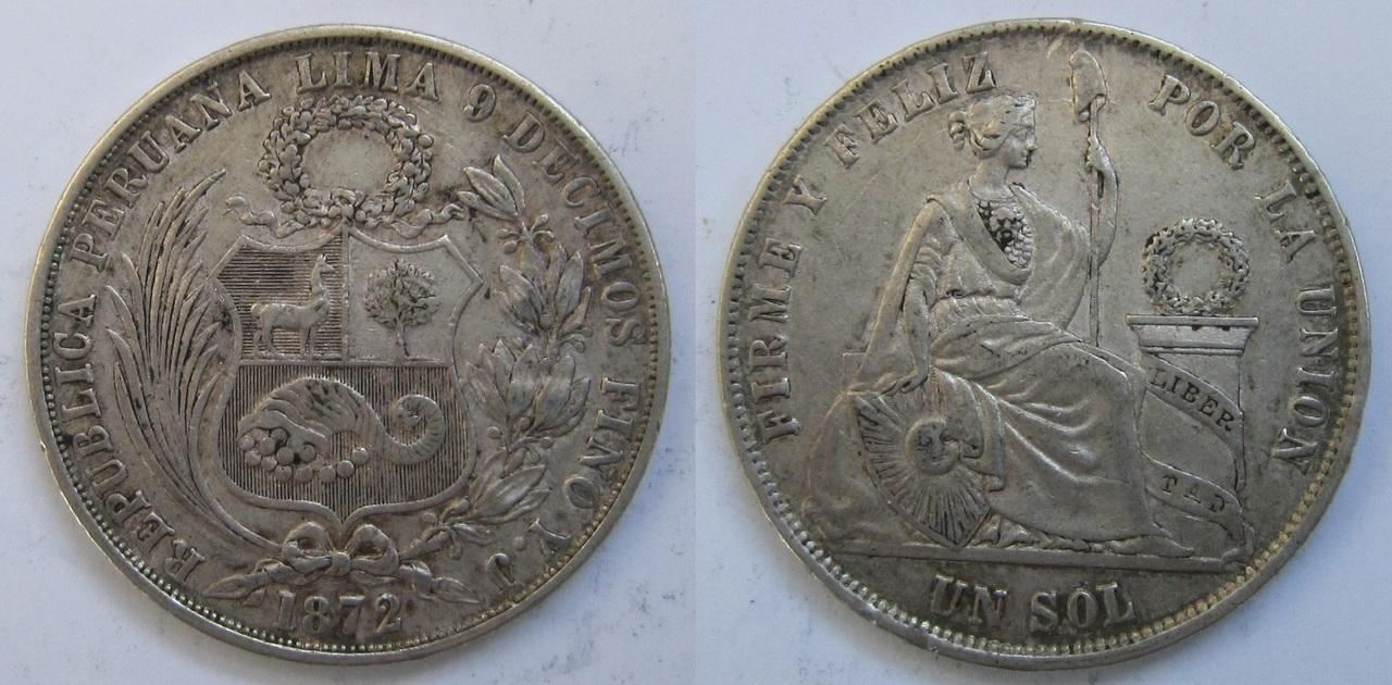 1 Sol. Perú. 1872. Lima 1_sol_Per_1872