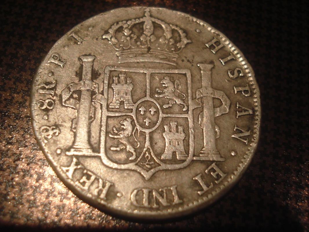 8 reales 1808. Carlos IV. Potosí  Monedas_8_reales_010