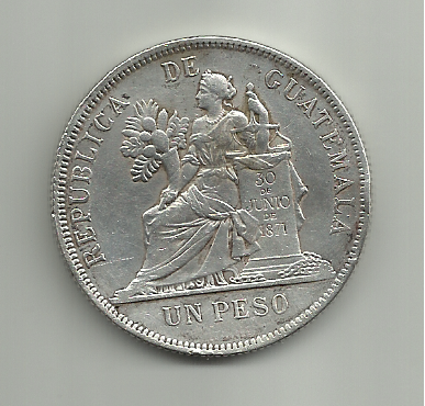 1 peso 1894 guatemala - 1 Peso. Guatemala. 1894 1_peso_de_guatemala_1894_r