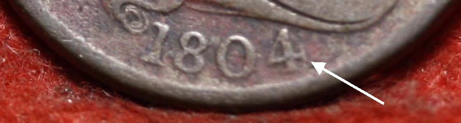 Tipo de moneda Estados Unidos 1804_cent1a