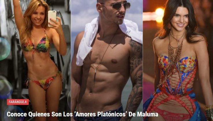 Conoce Quienes Son Los 'Amores Platónicos' De Maluma WRWERW