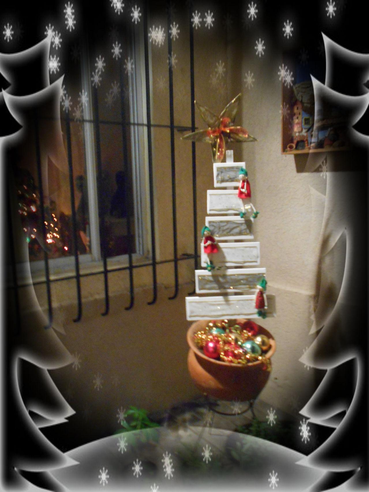 Arbol de Navidad de tablones reciclados Pizap_com14190447663651