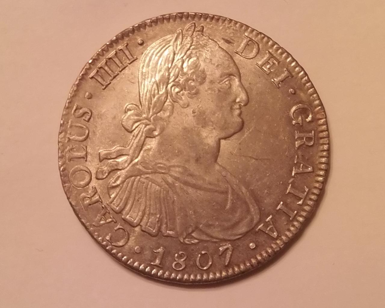 8 reales Carlos IIII 1807 Mexico  Para Emiliano y Lanza Carlos_IIII_1807_anverso