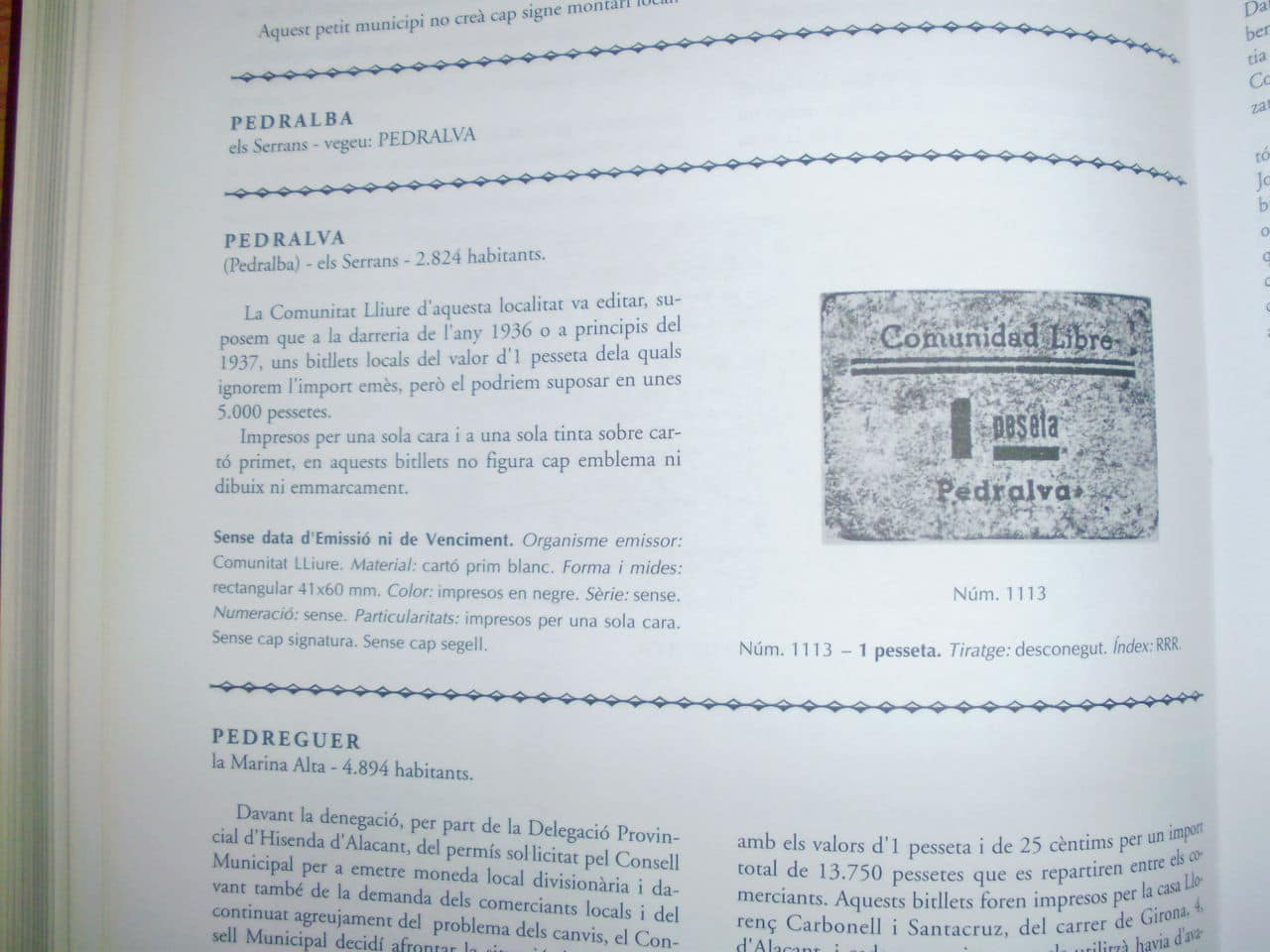 Billetes necesidad Pedralba (Valencia) Image