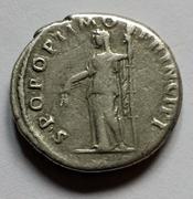 Denario de Trajano. S P Q R OPTIMO PRINCIPI. Ceres velada estante a izq. Roma. Image