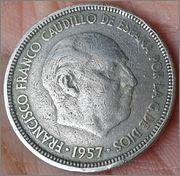 5 pesetas Franco 1957 .. estrella ?? 20160412_164804