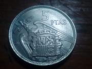 5 pesetas 1957 (*58). Estado Español. La primera pequeña. IMG_20180815_185016