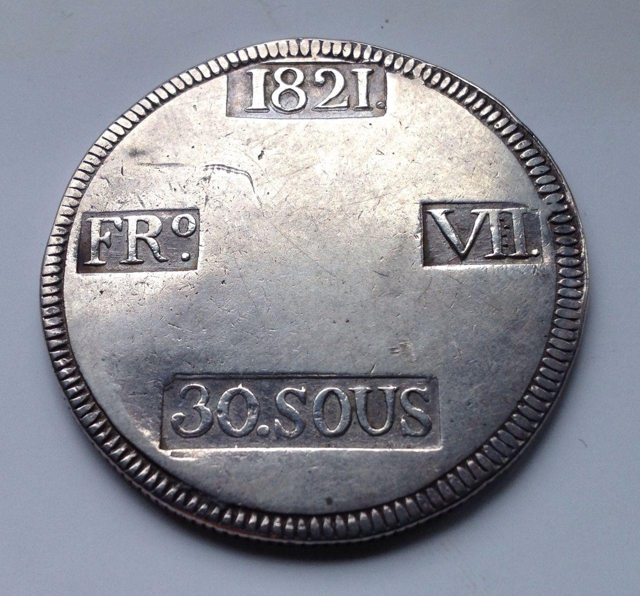 30 sous 1821 Fernando VII - María Antonia dedit Image