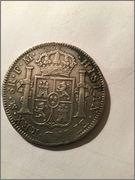 8 reales 1795 Carlos IV Mexico Image