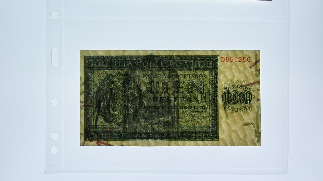 La mejores marcas de agua en billetes Cien_Geometricos_1936