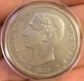 5 pesetas de Alfonso XII 1876 Oreja rayada Oreja_1