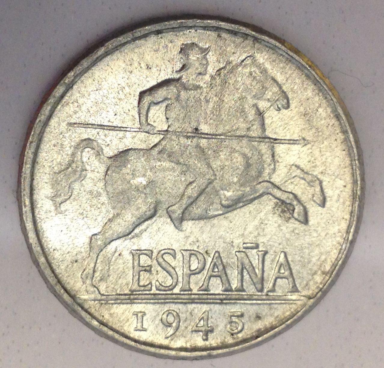 5 céntimos 1945 Estado Español Image