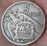 5 pesetas Franco 1957 .. estrella ?? 20160412_164832