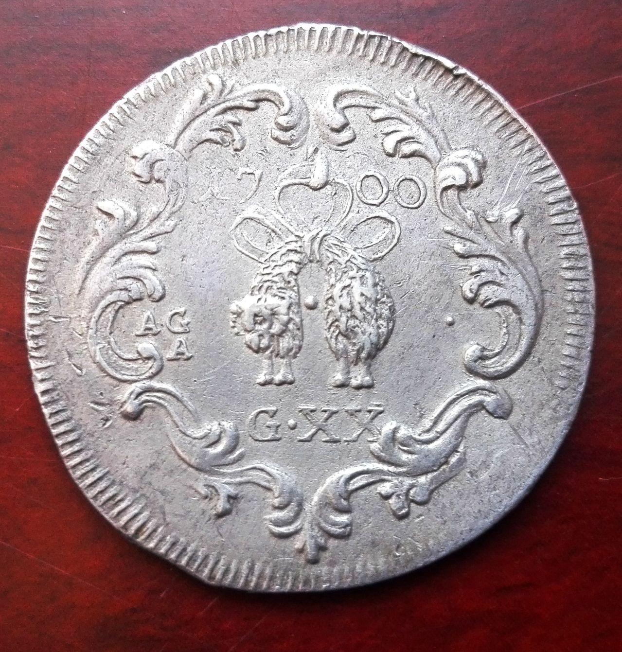 20 grana 1700 Napoles, Carlos II  20_grano_1700_3