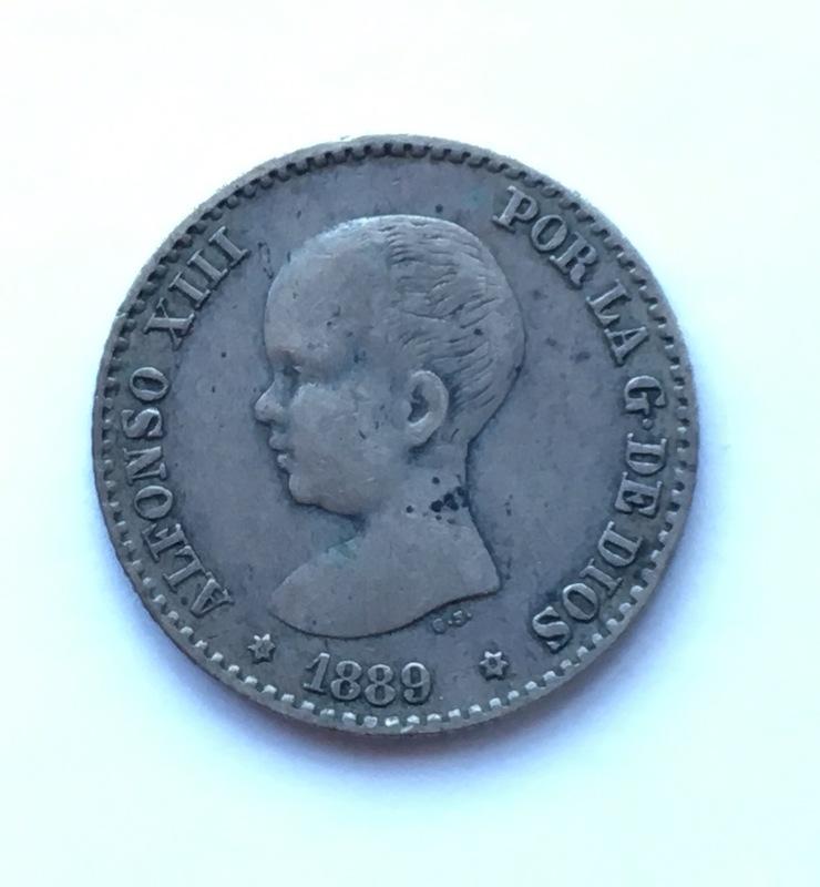 50 Céntimos Alfonso XIII 1889 Reverso incuso IMG_8948
