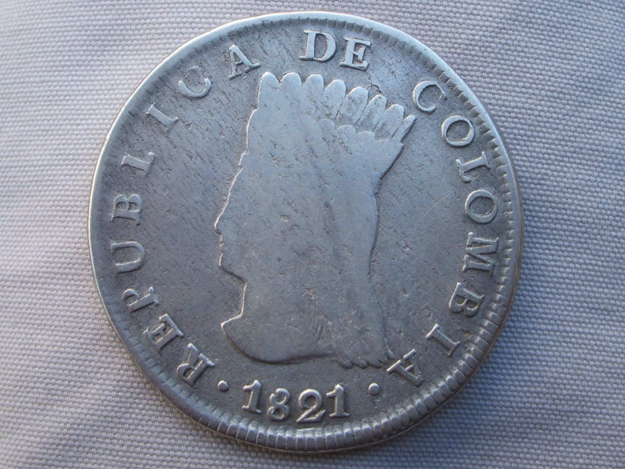 8 Reales. Colombia. 1821. Cundinamarca Si_2
