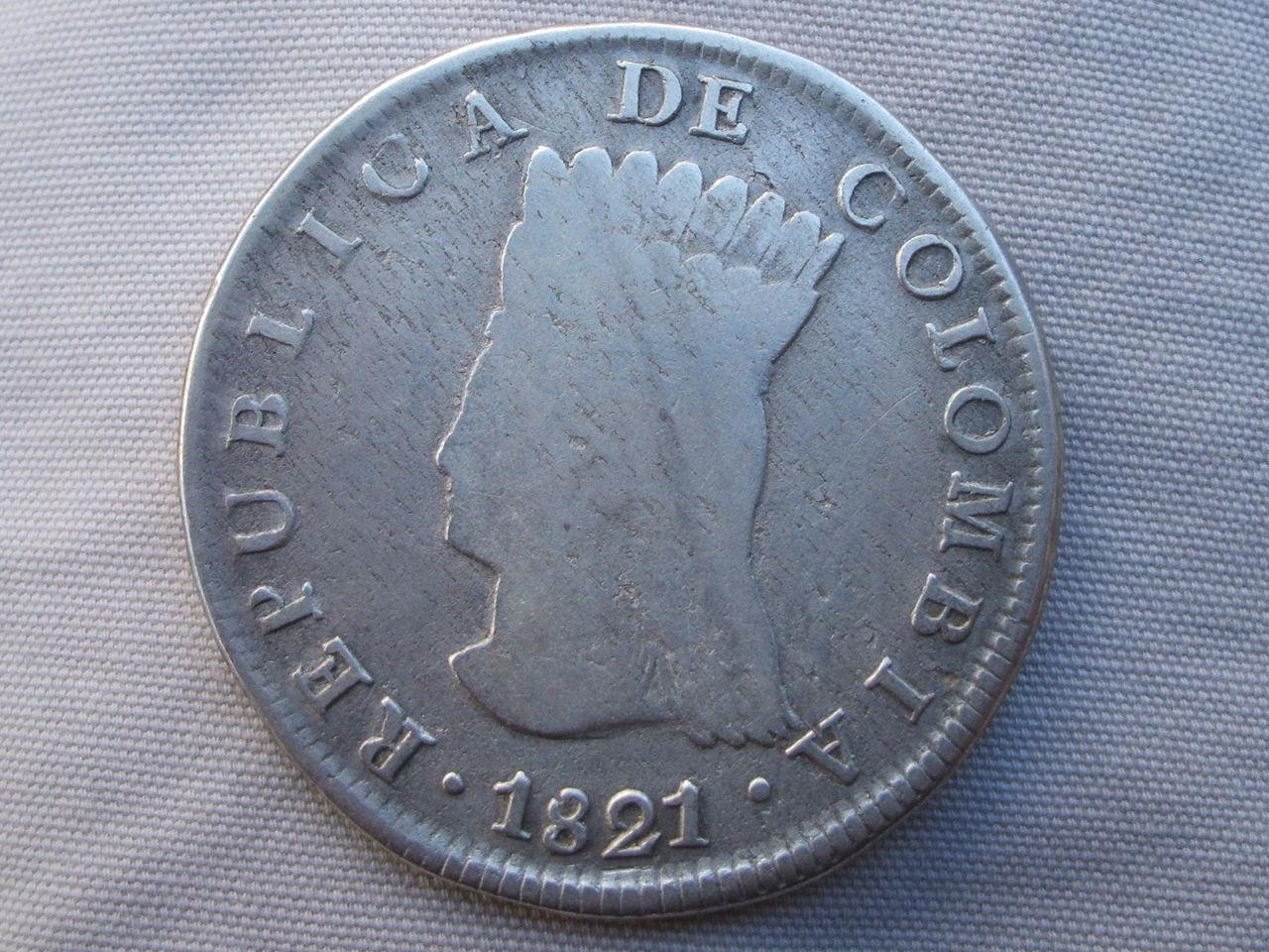 cundinamarca - 8 Reales. Colombia. 1821. Cundinamarca Si_2