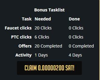 Goldenfaucet.io - hasta 15 sat Por Click + Faucet - Sin mínimo - Pago por Perfect money, Bitcoin, Payeer, FaucetHub - Mismo admin que Goldenclix, SilverClix! Bonus