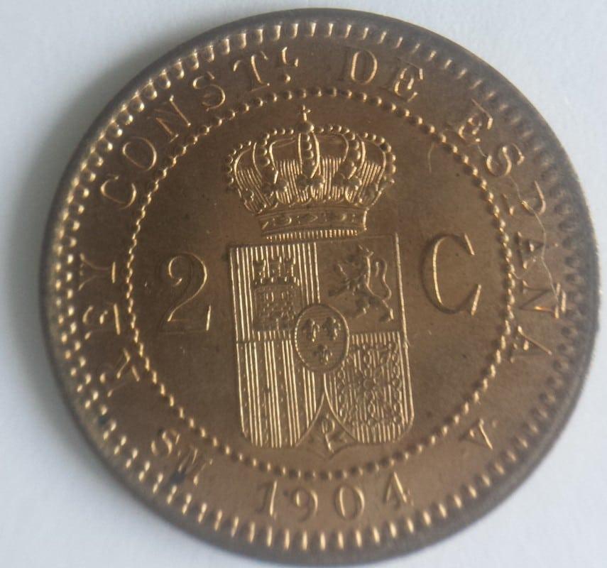 2 centimos 1904. Alfonso XIII. SMV 20161104_155107