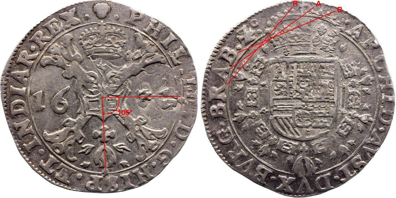 ½ Patagon 1631. Philips IIII. Bruselas (Brabante). Medio_Patagon_1631_2a