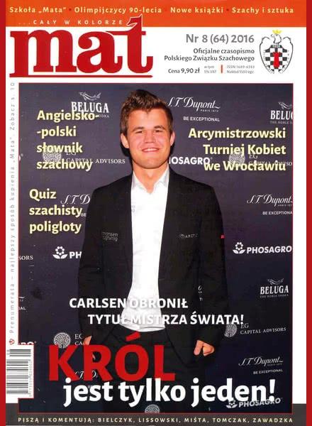 Chess Periodicals :: Czasopismo MAT (Polish Chess Magazine) Mat-64-2016-08