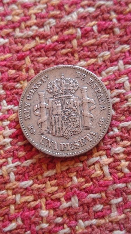 1 peseta 1885 Alfonso XII. Opinión  DSC_1828