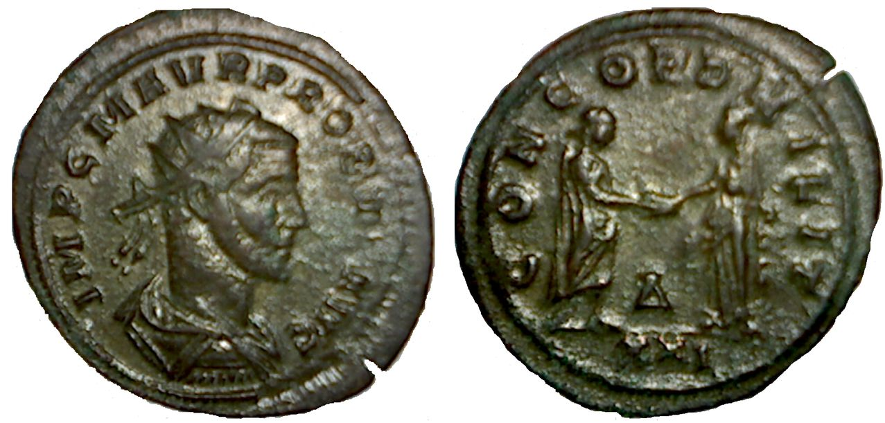 Antoniniano de Probo. CONCORD MILIT. Siscia. PROB0