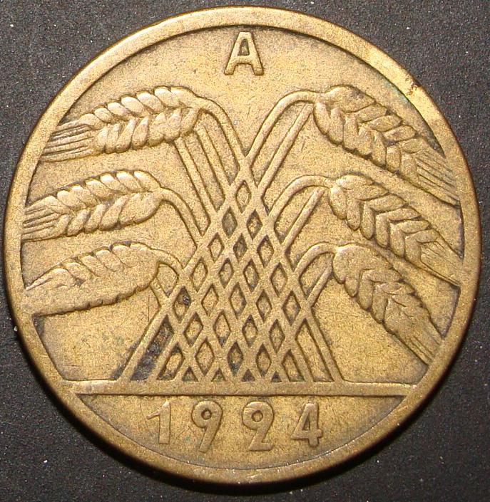 10 Rentenpfennig. Alemania (1924) ALE_10_Rentenpfennig_1924_rev
