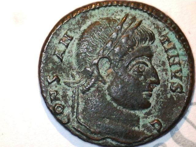 AE3 Constantino I. VOT XX. Ceca Siscia. Image