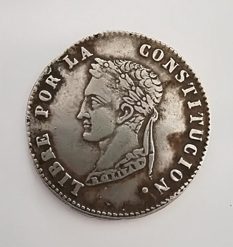 4 soles 1857 FJ Bolivia  IMG_20180708_185601