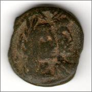 AE17 de Aretas IV y Shaqilat. Petra (Reino de los nabateos) Smg_385a