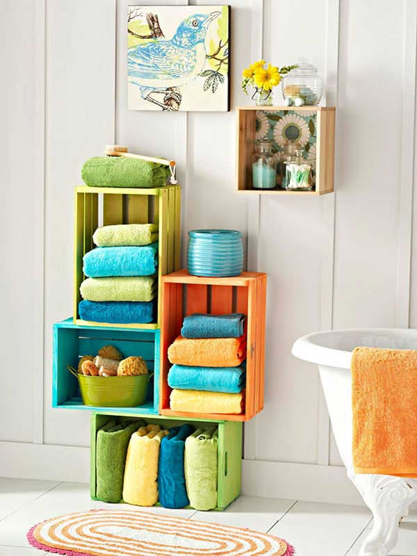 بالصور .. أفكار أنيقة لاستغلال المساحات بحمام المنزل Diy_bathroom_storage_ideas_10
