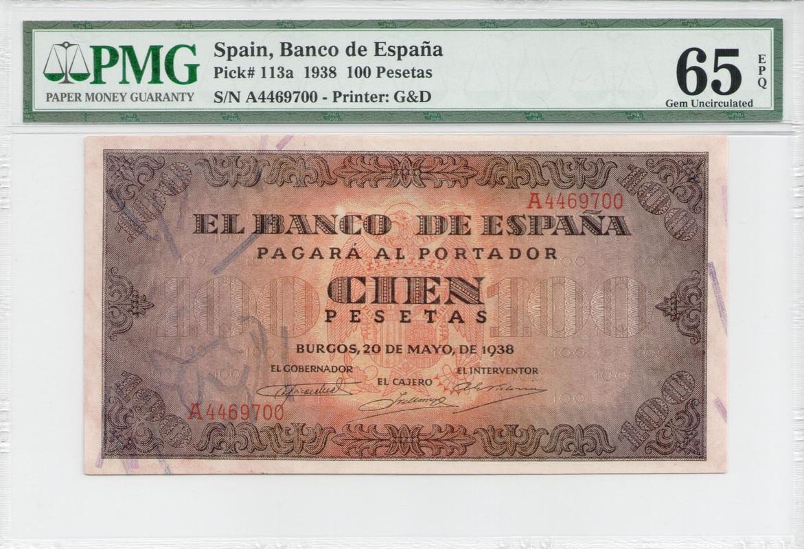 Colección de billetes españoles, sin serie o serie A de Sefcor - Página 4 100_ptas_1938_anverso