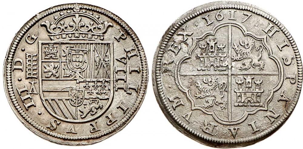 8 reales de 1617, Felipe III, Segovia  2171582