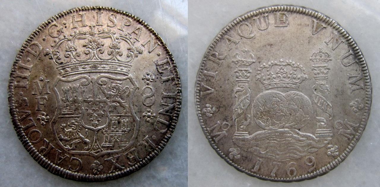 8 reales 1769. Carlos III. México. 8_reales_Carlos_III_M_xico_1769