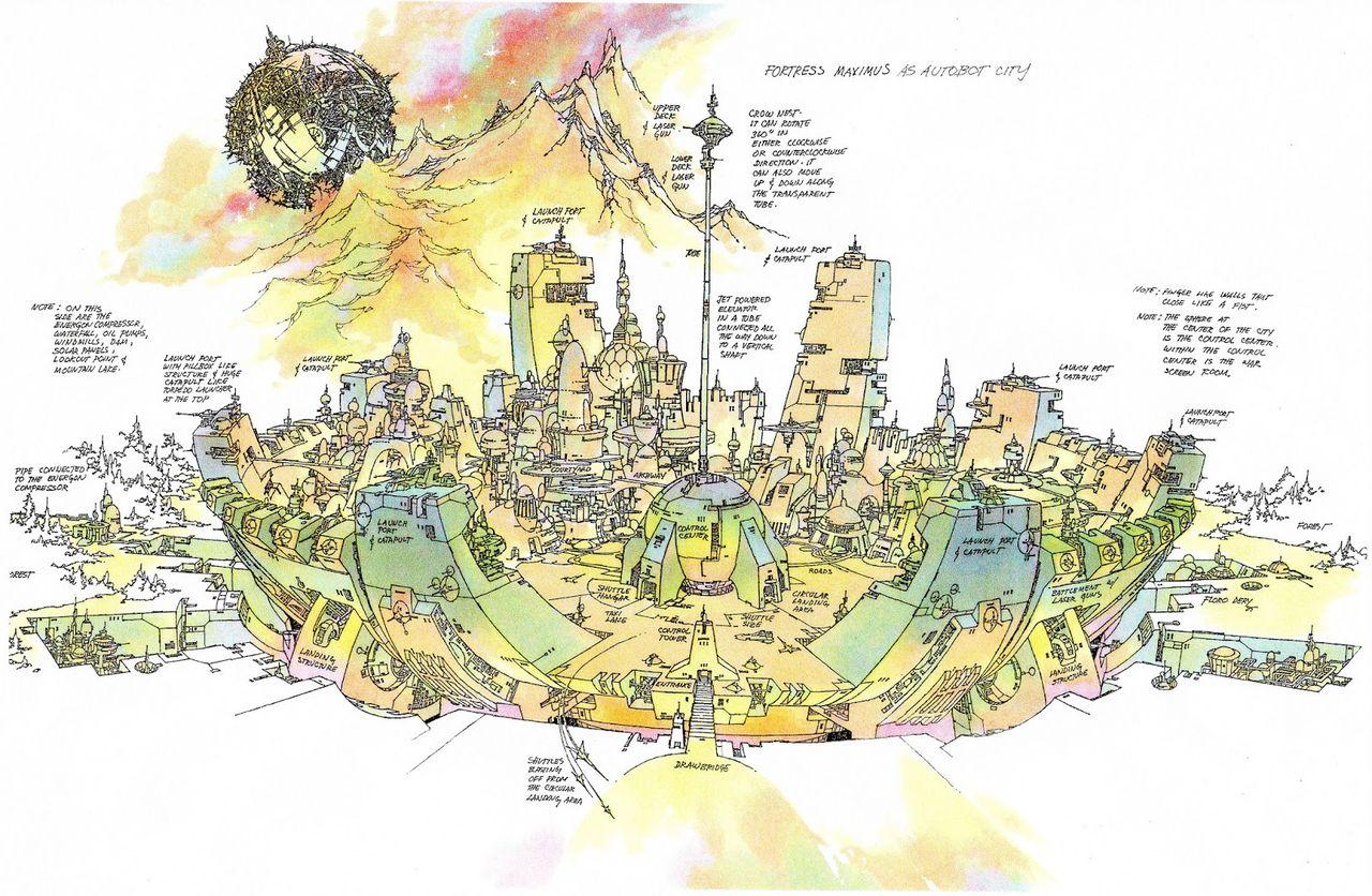 SITE WEB - Transformers (G1): Tout savoir en français: Infos, Images, Vidéos, Marchandises, Doublage, Film (1986), etc. - Page 2 Fortress_maximus_as_autobot_city