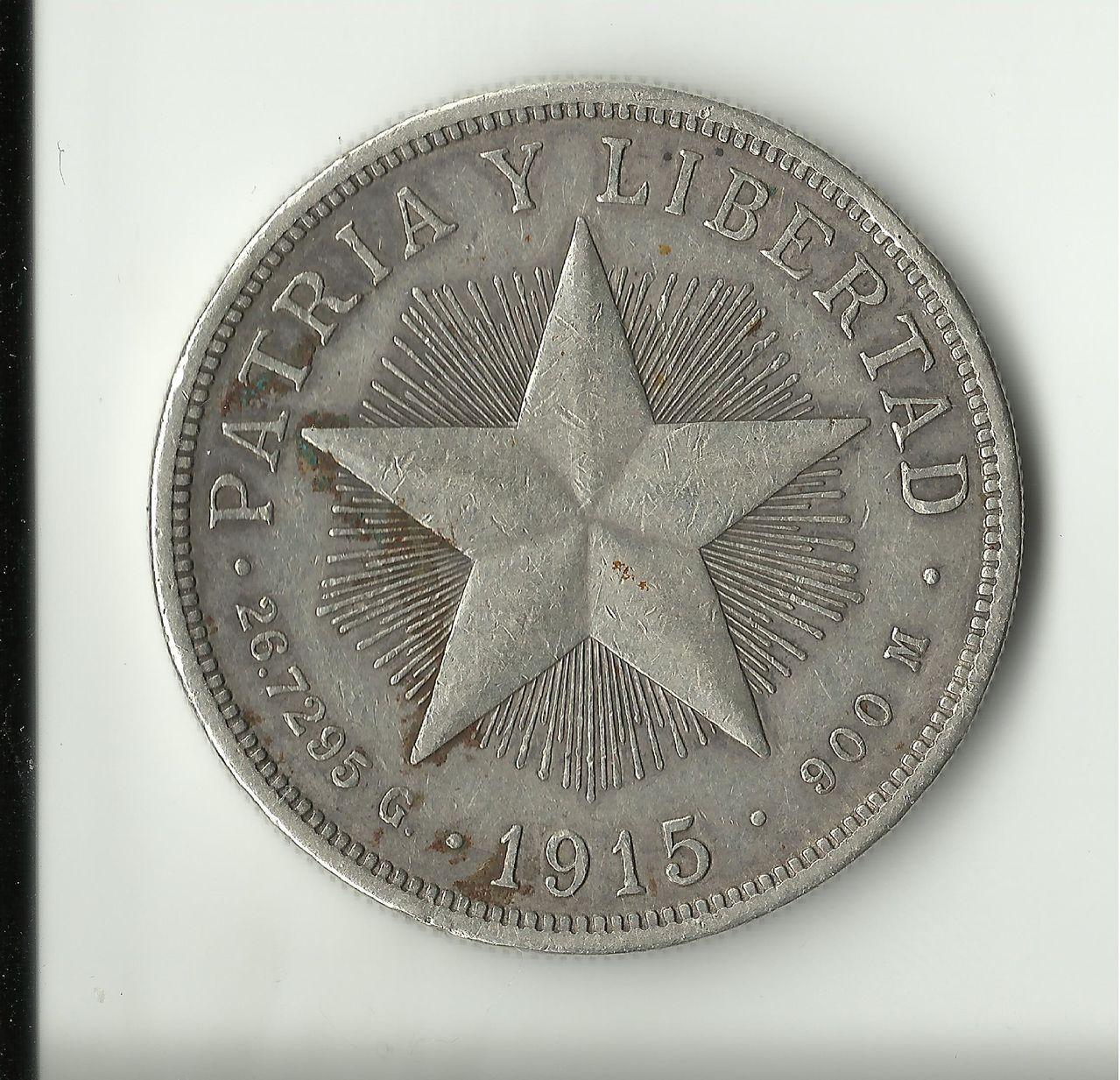 1 Peso. Cuba. 1915 Un_peso_1915_rev