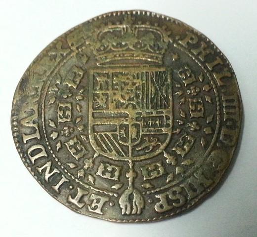 Jetón de Felipe IV. 1649. Amberes. Negociaciones de Paz entre España y Francia. Jeton_felipe_IV_1649_anv
