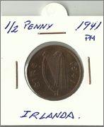 Monedas con animales domésticos Medio_penny_irlanda_a