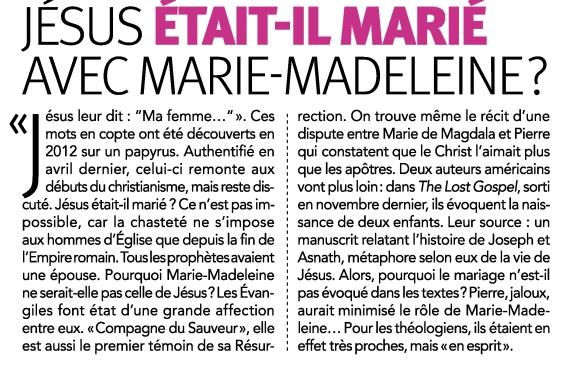 jésus a été marié a Marie-Madeleineet avait 2 enfants 2015_11_08_105015