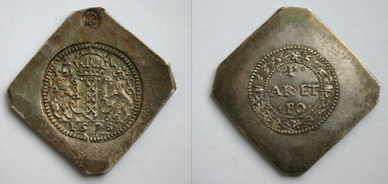 40 sueldos de 1578. Asedio de Amsterdam. 40_Stuivers_1578_2
