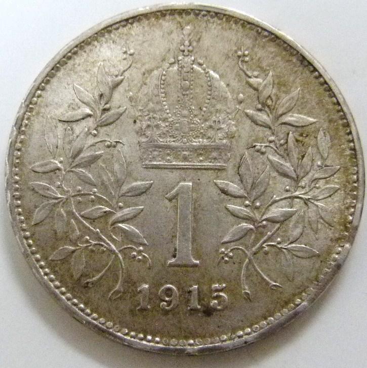 1 Corona. Austria (1915) AUT_1_Corona_1915_rev