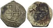 2 reales macuquinos  Sevilla Felipe II  R575