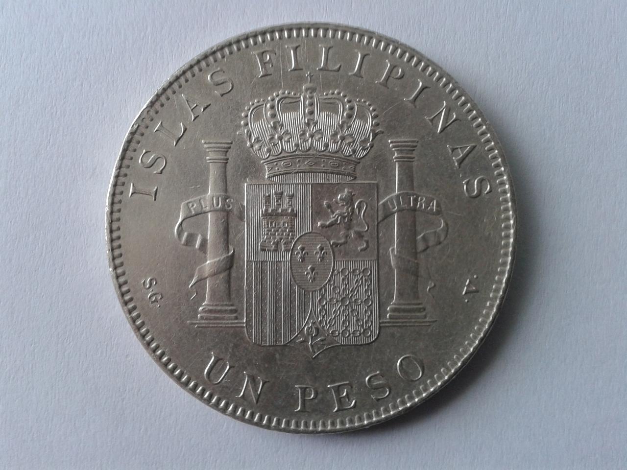 Un PESO Filipinas - 1897 Alfonso XIII 20141018_155454