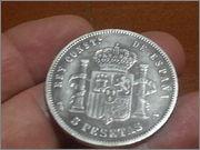 5 pesetas 1893.*18-93* Alfonso XIII - P.G.V.- 20131106_185404