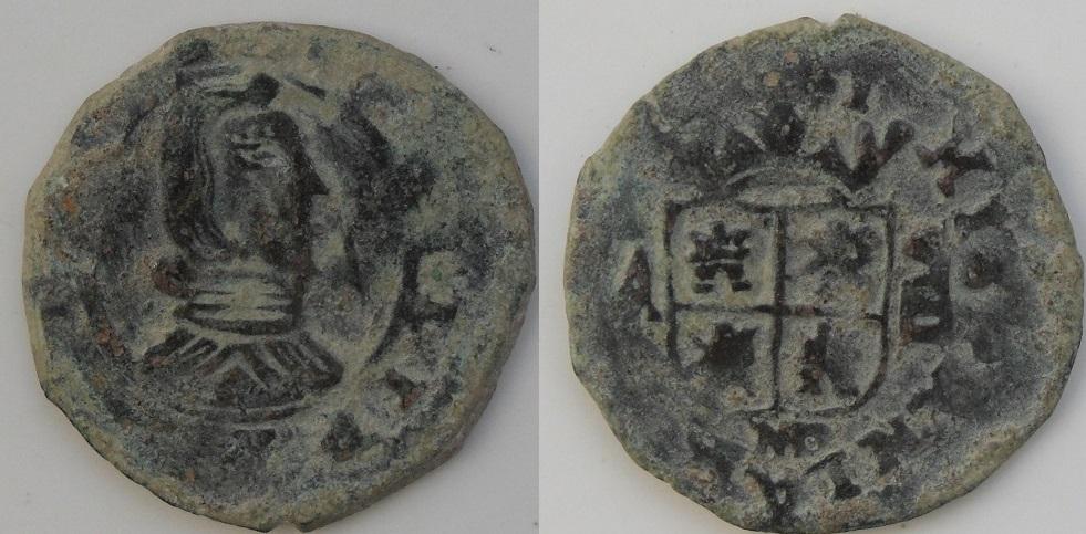 8 maravedies Felipe IV 1661 Madrid 8m_fel_IV_M_20mm_1_90g