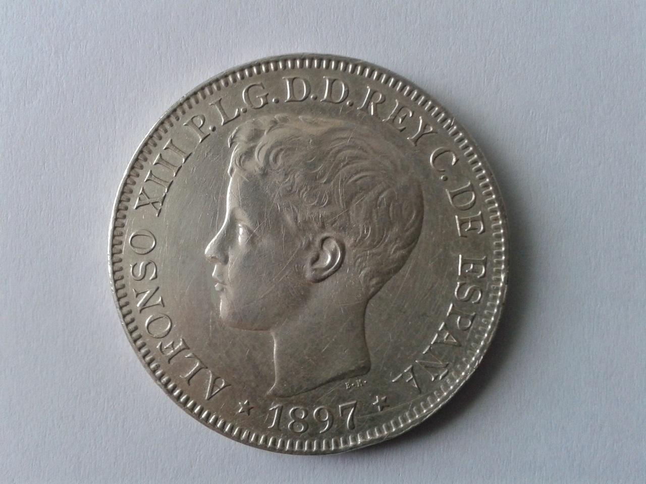 Un PESO Filipinas - 1897 Alfonso XIII 20141018_155442