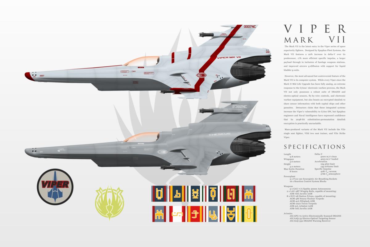 Battlestar Galactica (all series) Viper_mark_vii_group_by_ms_06f-d5s62fb